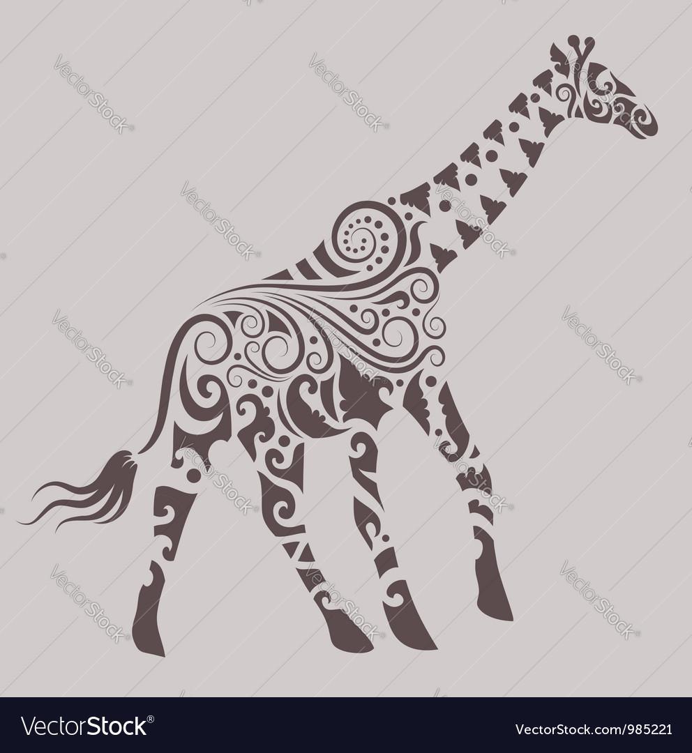 Giraffe Ornament vector image