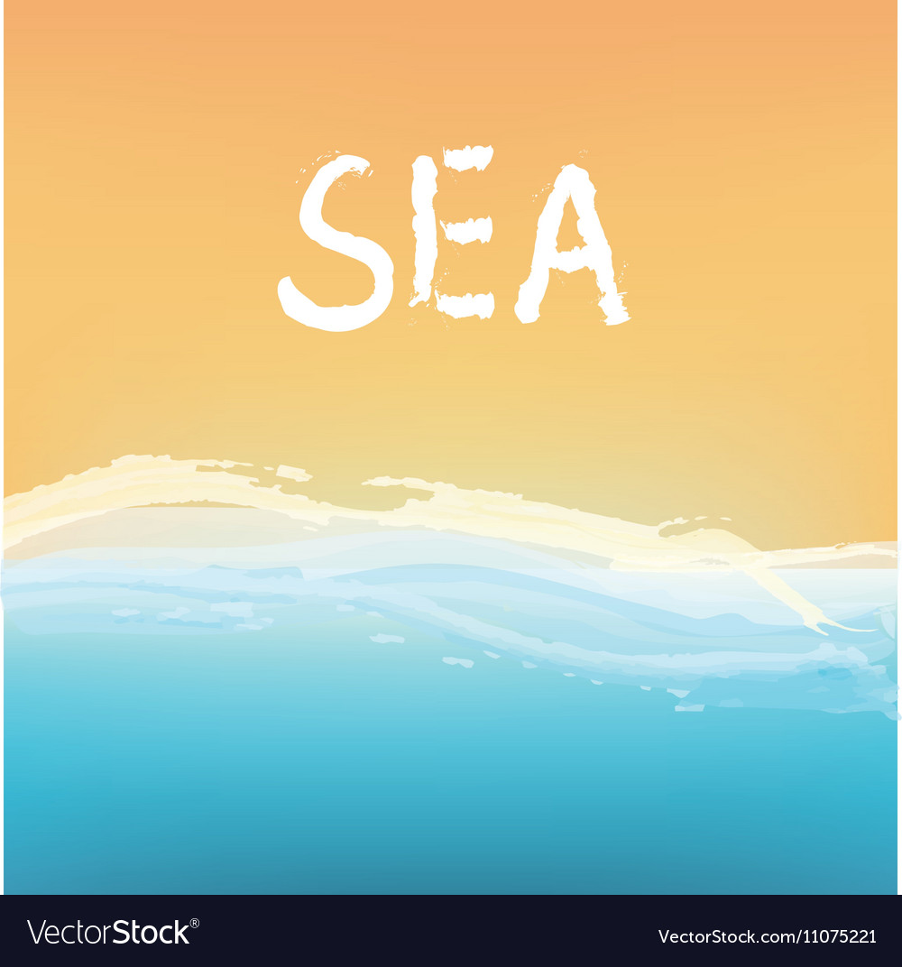 Sea and sand abstract background design vector image