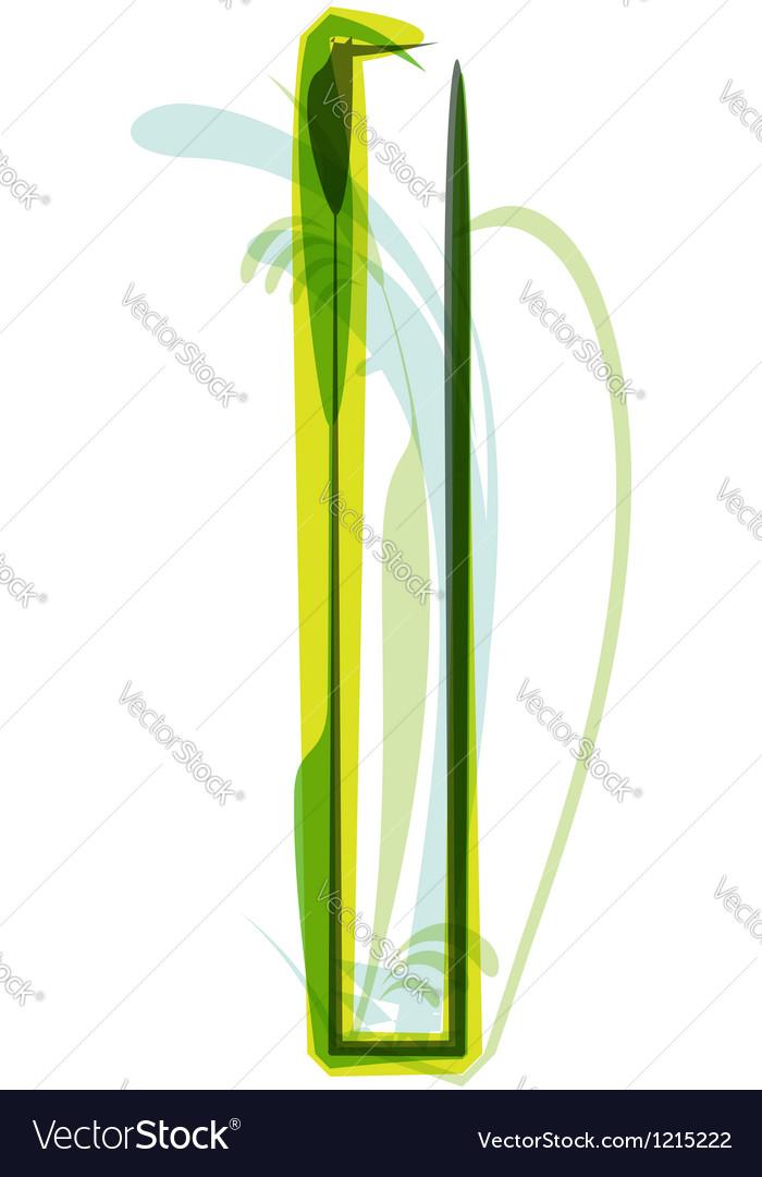 Green letter vector image