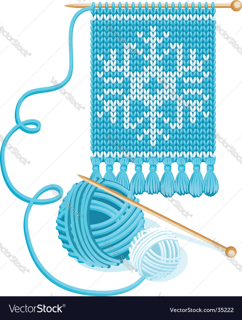 Knitting vector image