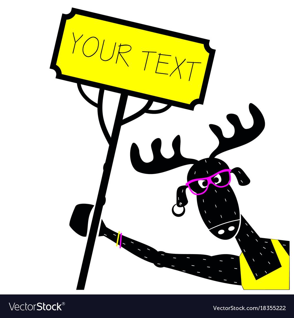 print moose dj royalty free vector image vectorstock rh vectorstock com dj victor dj victor ny