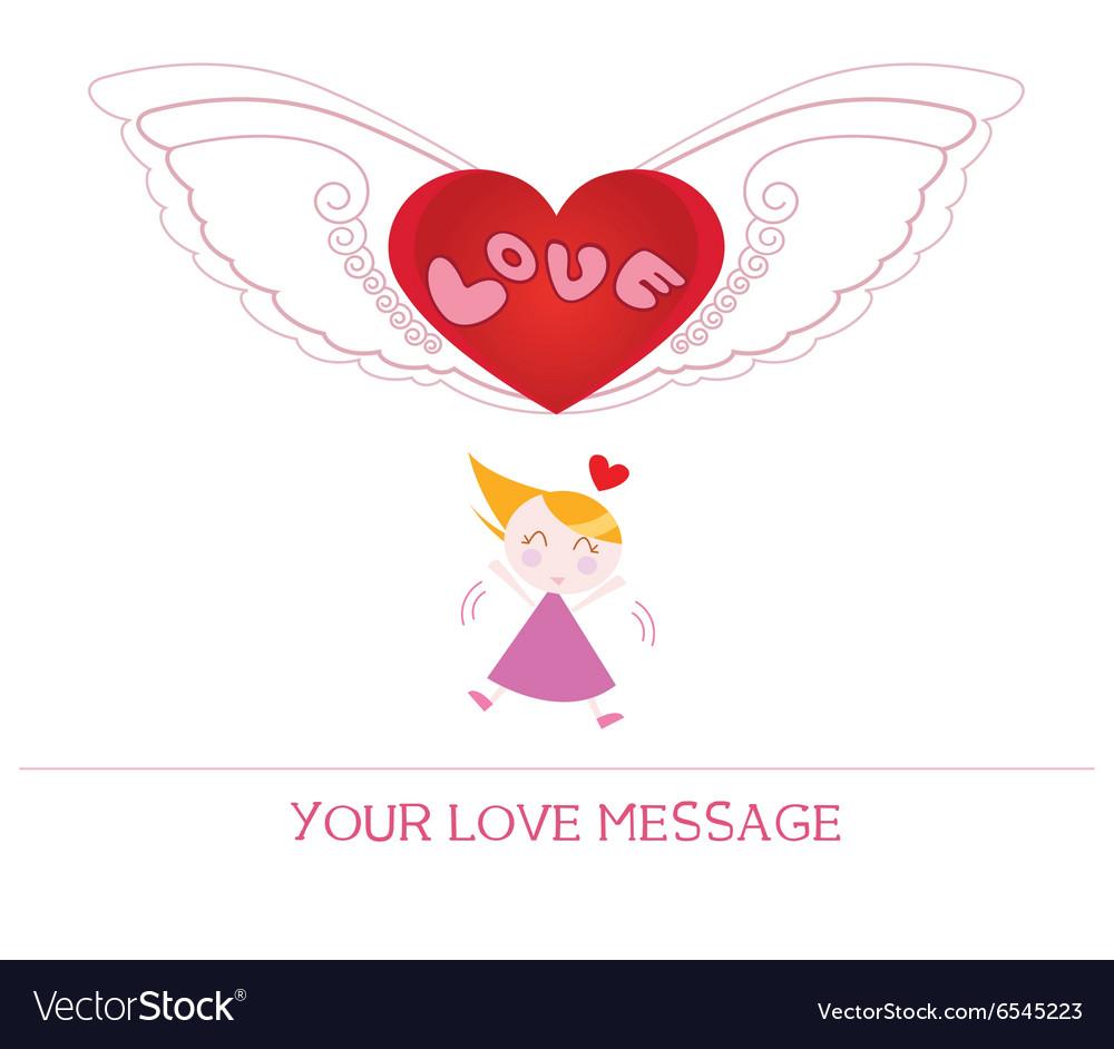 Cartoon girl in love vector image