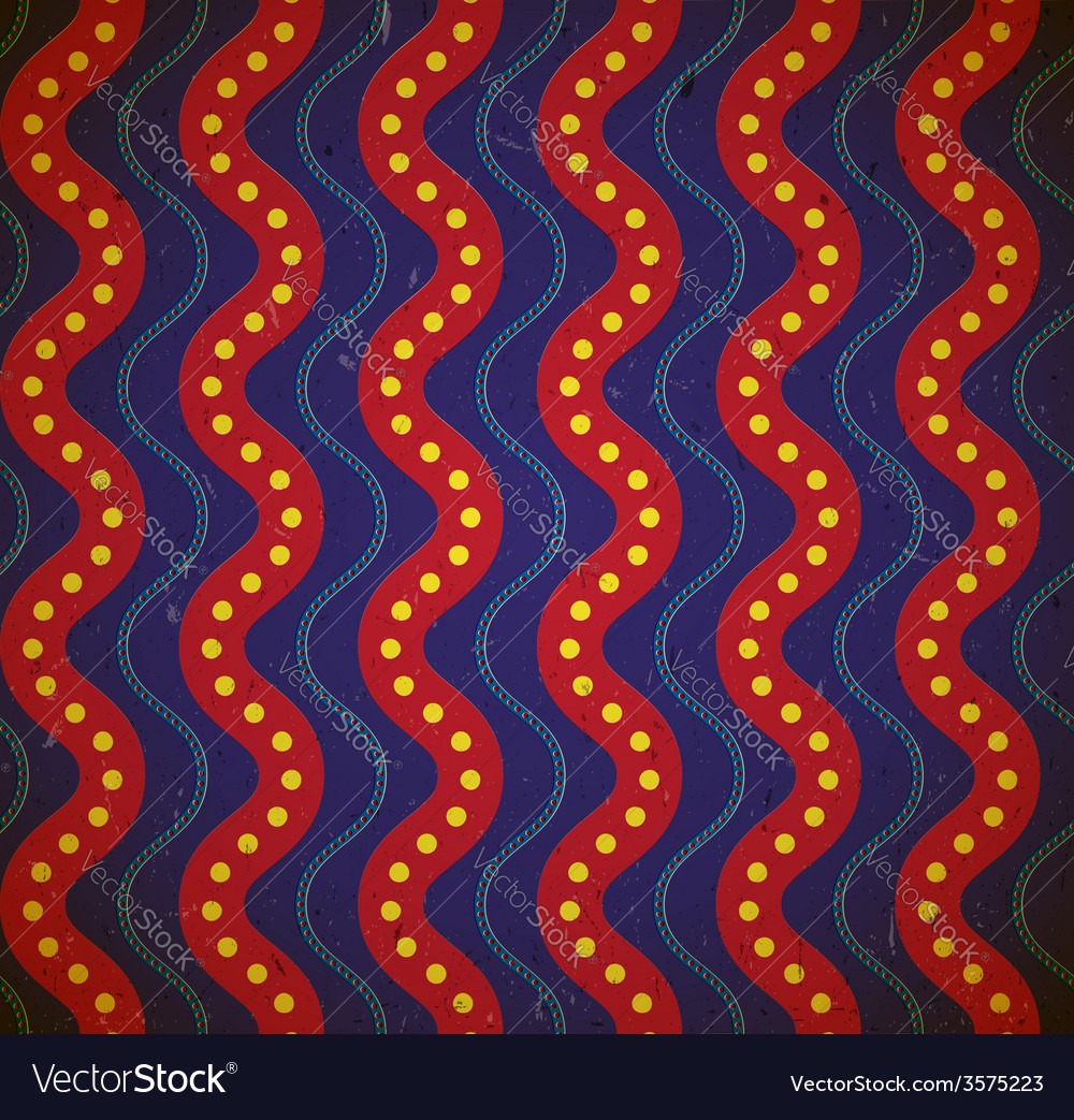 Dotted waves Grungy seamless pattern vector image