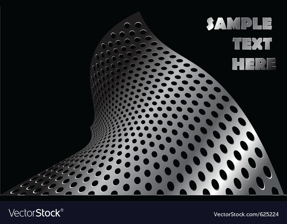 Abstract metal shape vector image