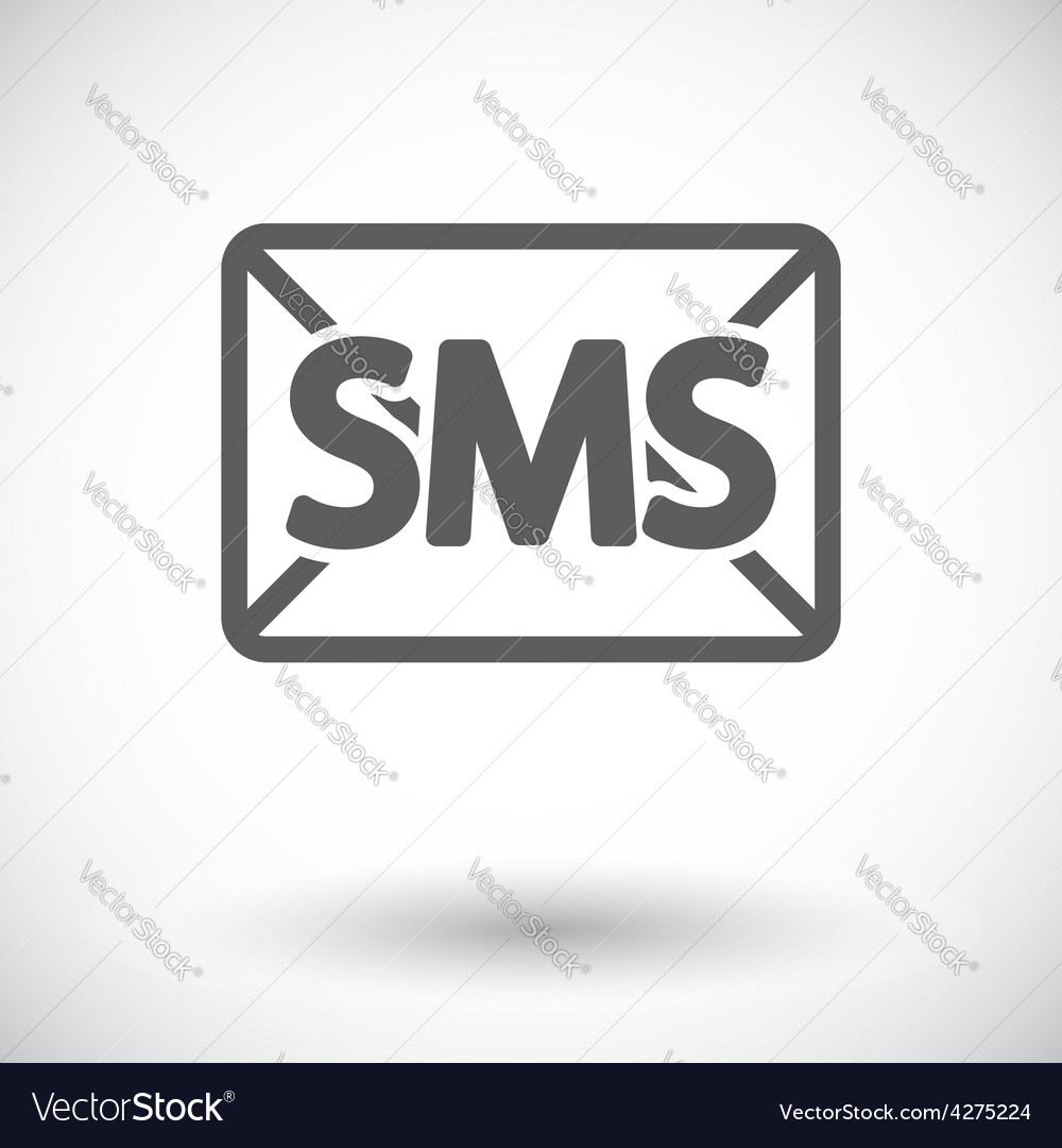 Envelope flat icon vector image