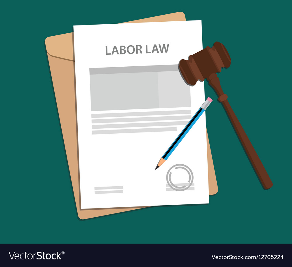 Legal concept of labor law vector image