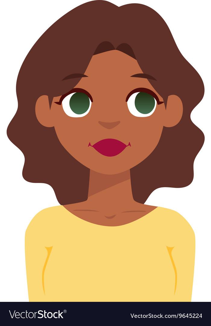 Quiet woman vector image