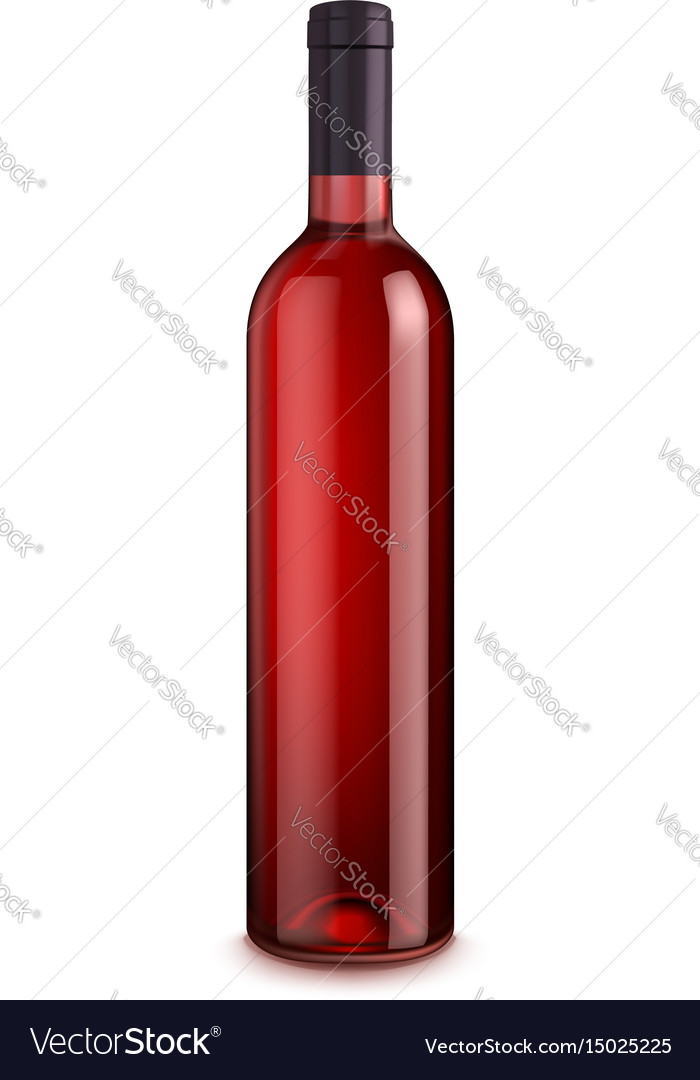Bottle of wine isolated on white background vector image