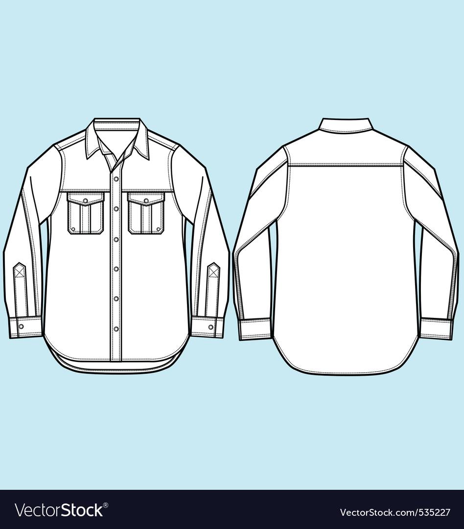 Men formal shirt design vector image
