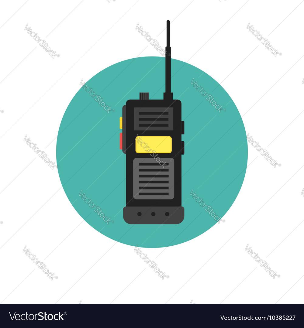 walkie talkie icon police radio online royalty free vector