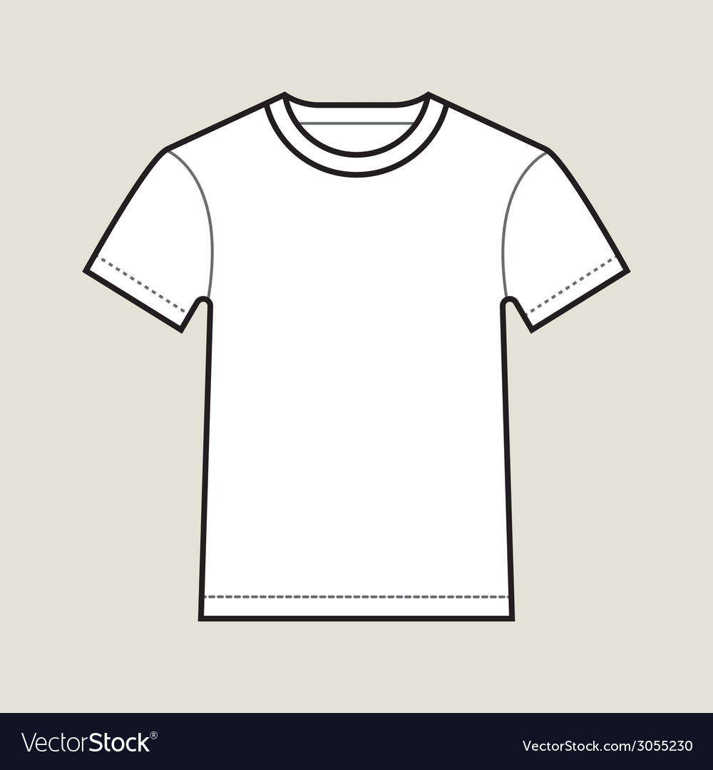roundneck t shirt template royalty free vector image. Black Bedroom Furniture Sets. Home Design Ideas