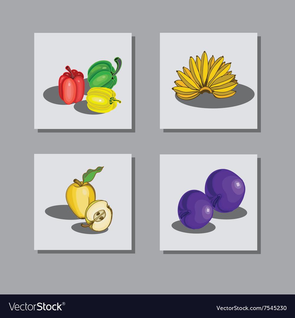 Set fruit 1 vector image