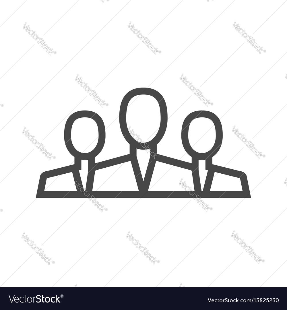 Teamwork thin line icon vector image