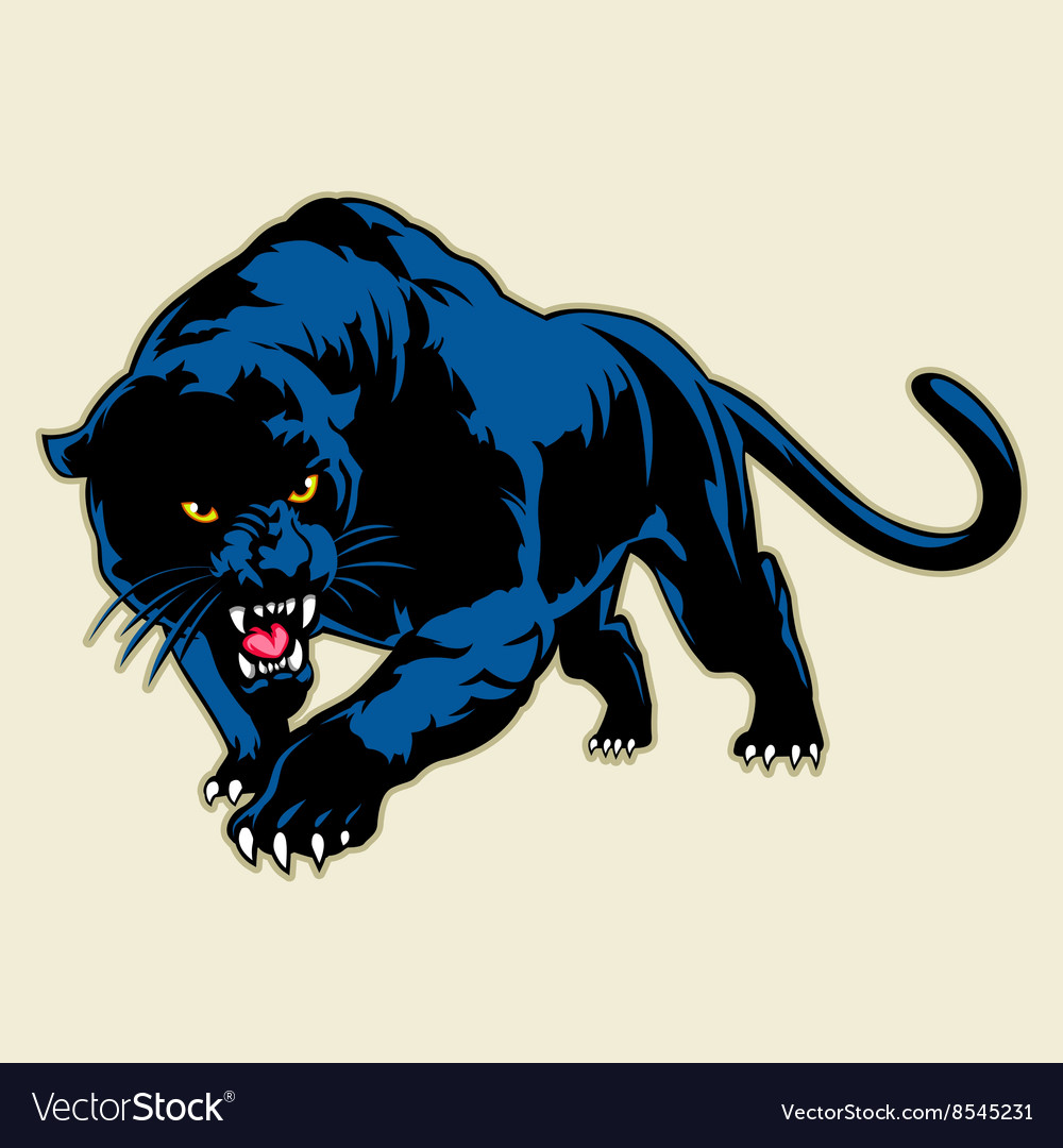 Black Panther Growling Royalty Free Stock Image: Black Panther Royalty Free Vector Image