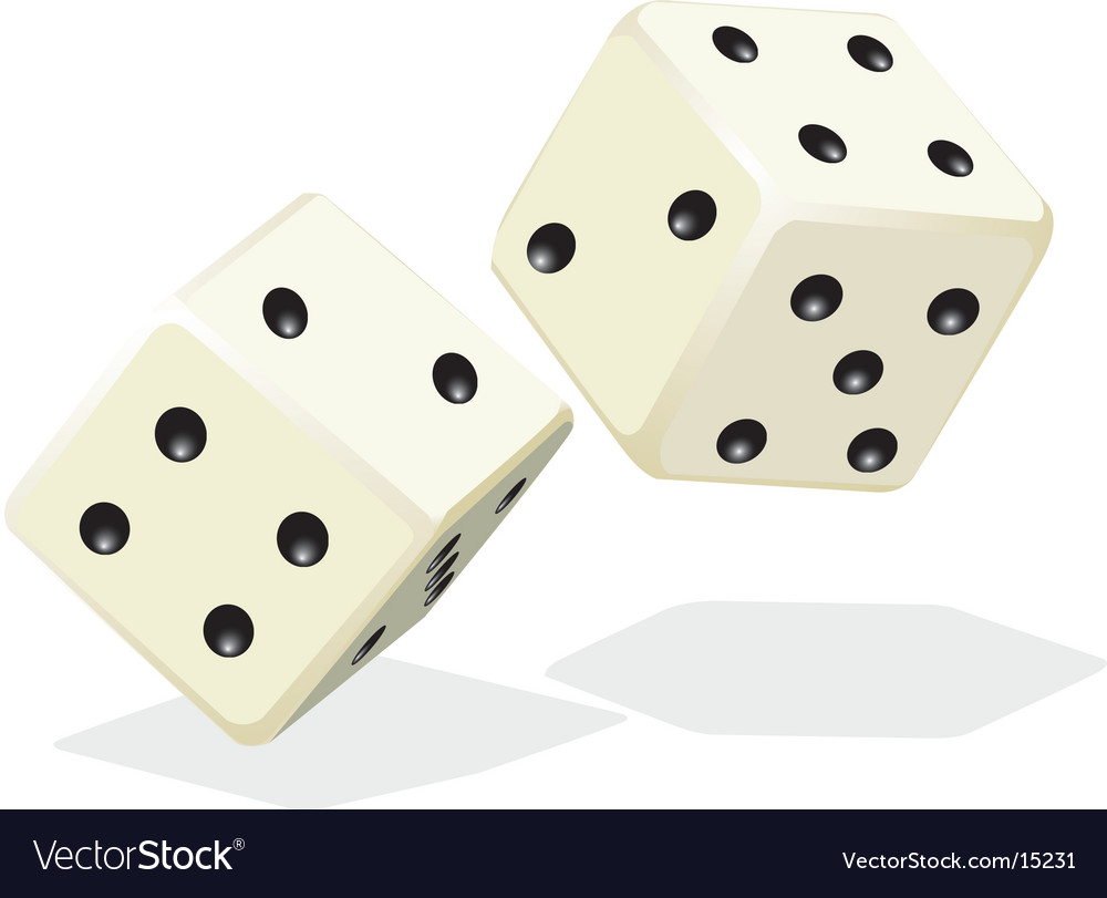 Rolling dice vector image