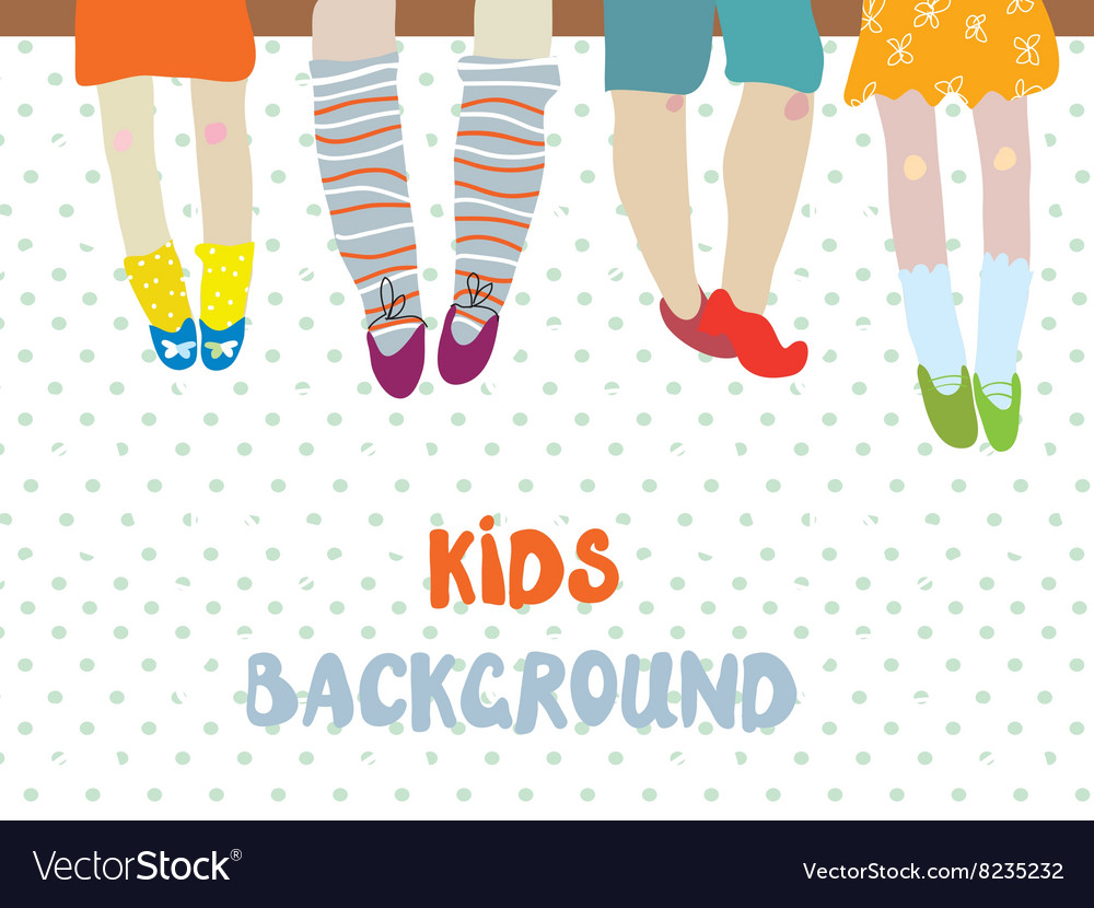 Kids background for kindergarten banner or card - vector image