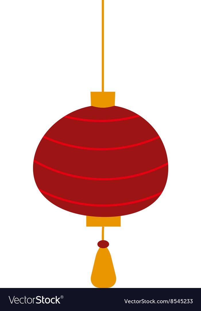 Chinese lantern symbols vector image