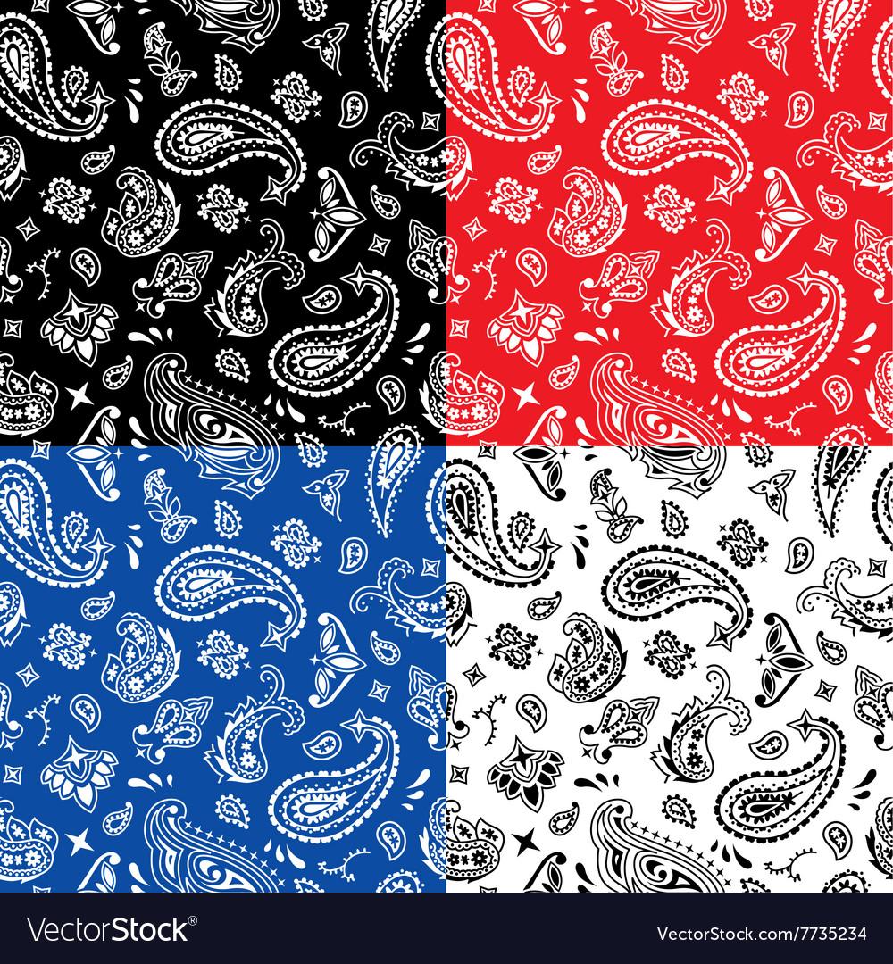Bandana Seamless Pattern vector image