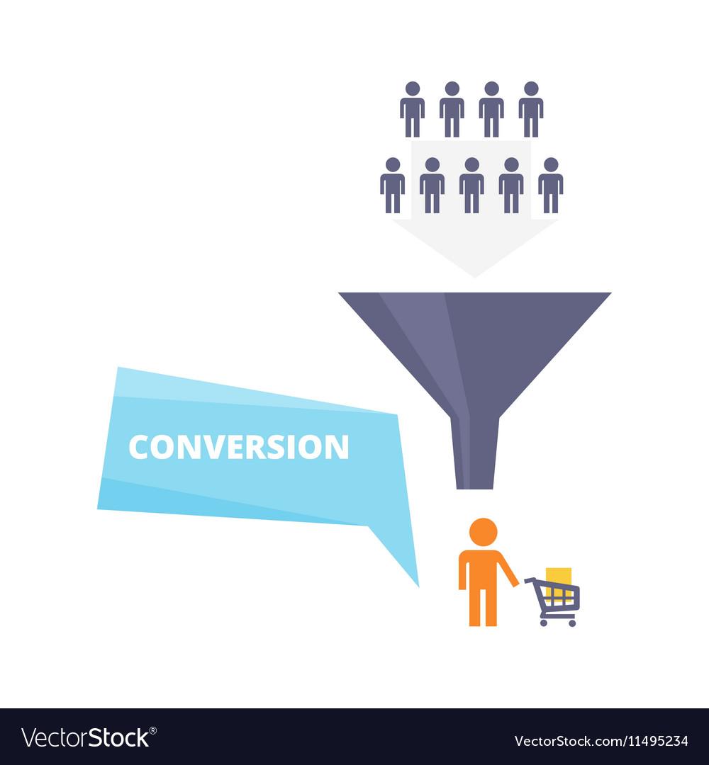 Conversion process flat vector image