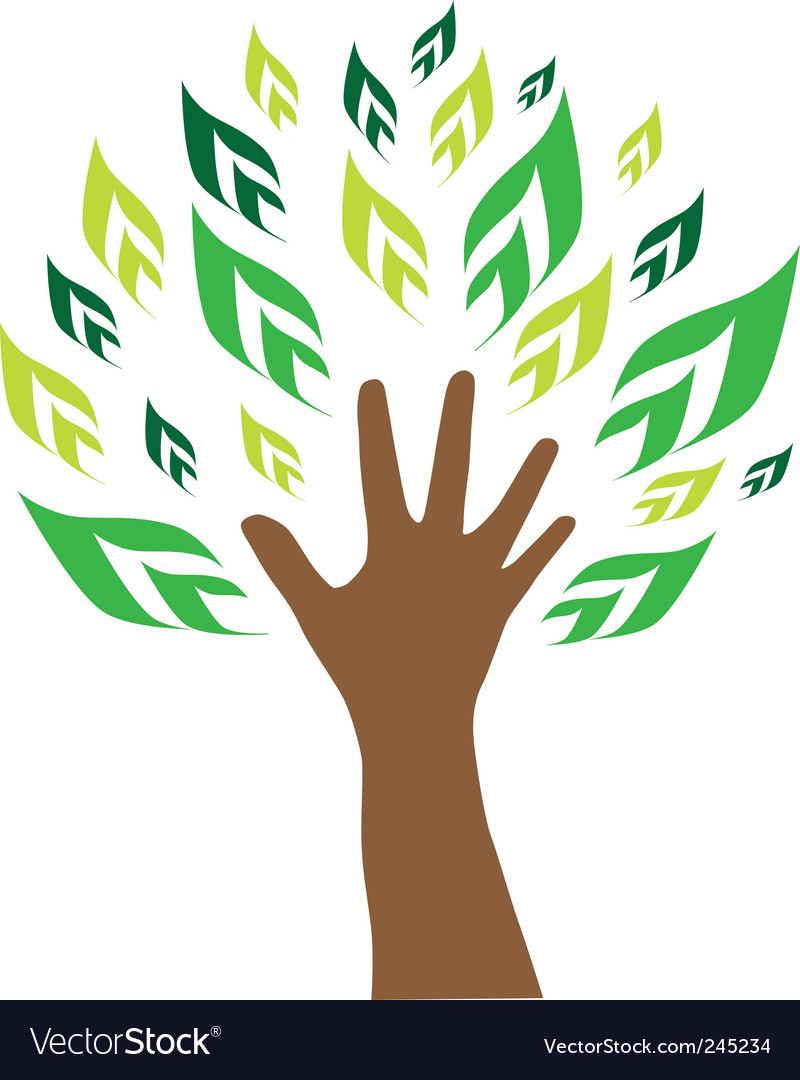 Hand tree vector image