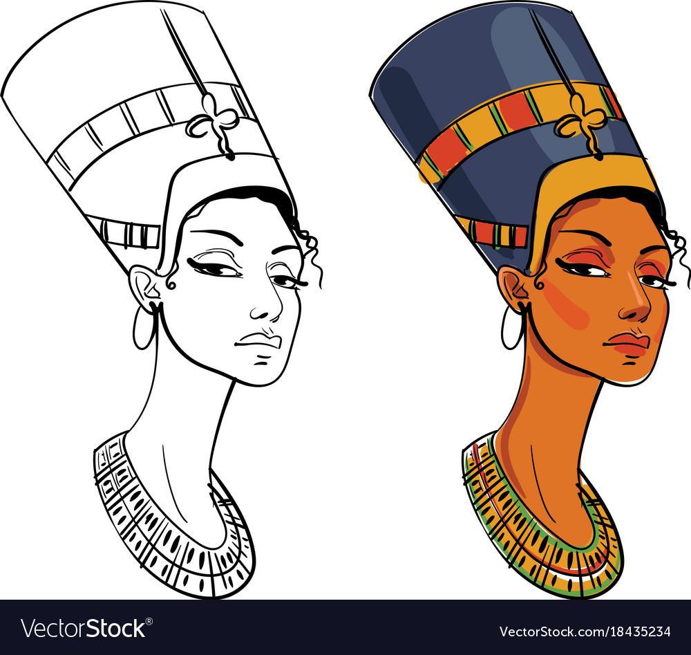 Nefertiti vector image