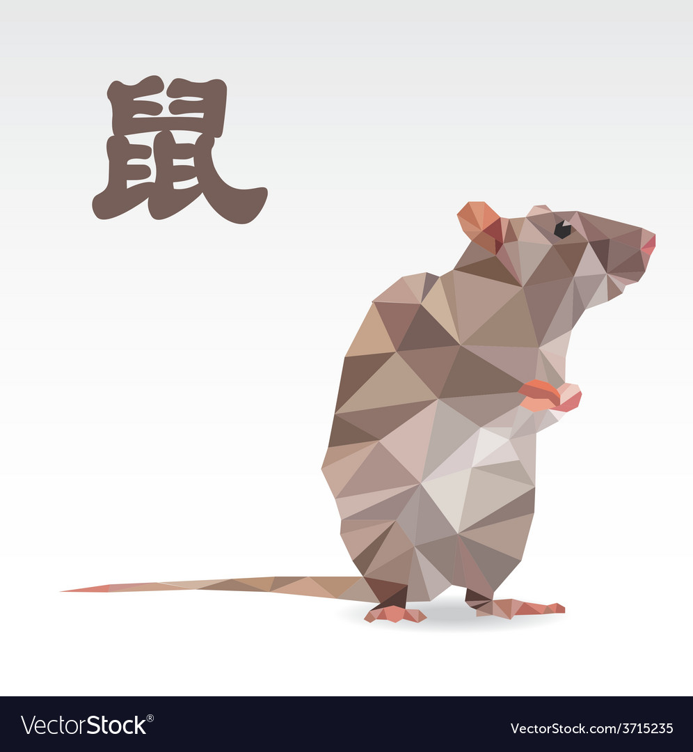 Rat polygon origami zodiac royalty free vector image rat polygon origami zodiac vector image jeuxipadfo Images