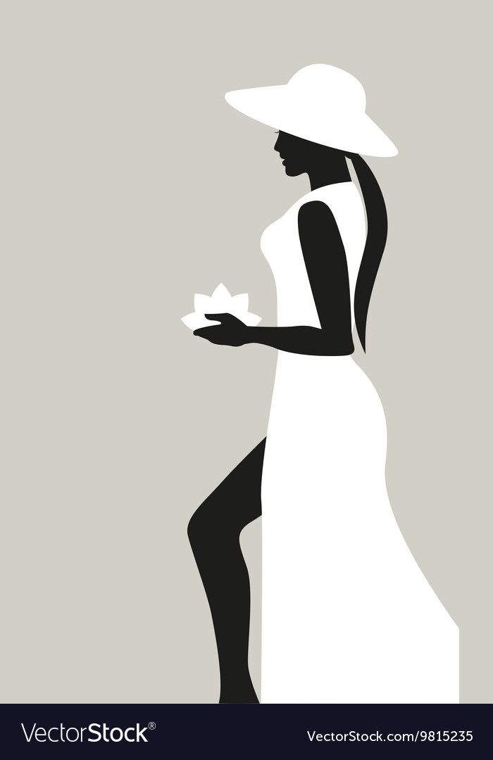 Silhouette of woman vector image