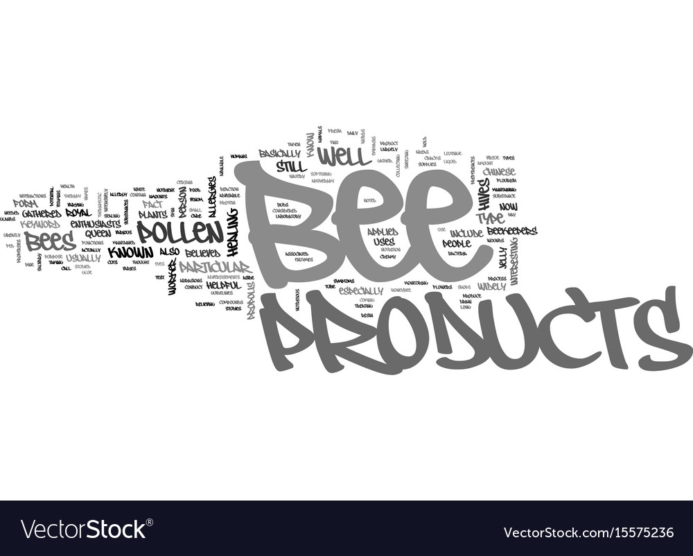 Bee products text word cloud concept vector image