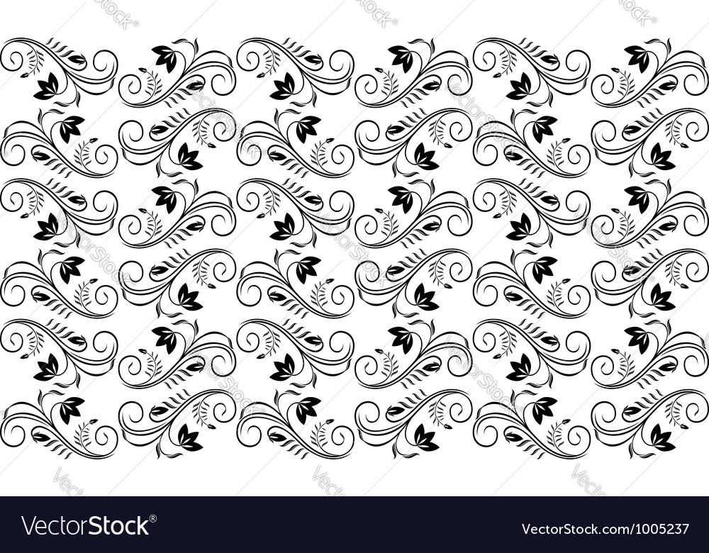 Seamless retro background with floral patterns vector image