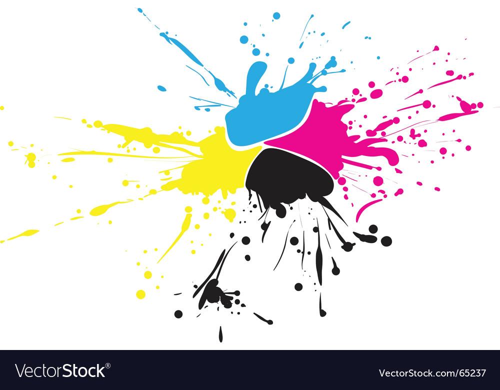 CMYK paint vector image