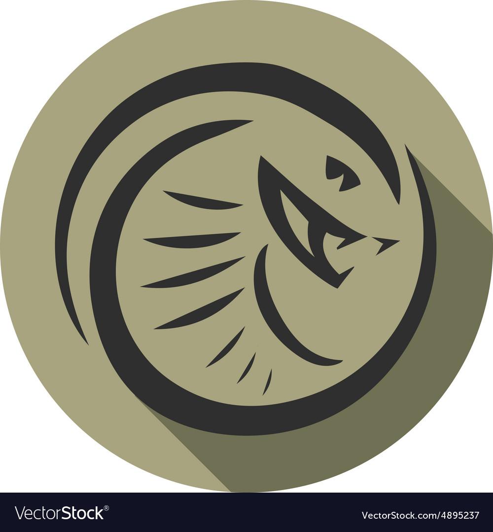 Snake emblem vector image