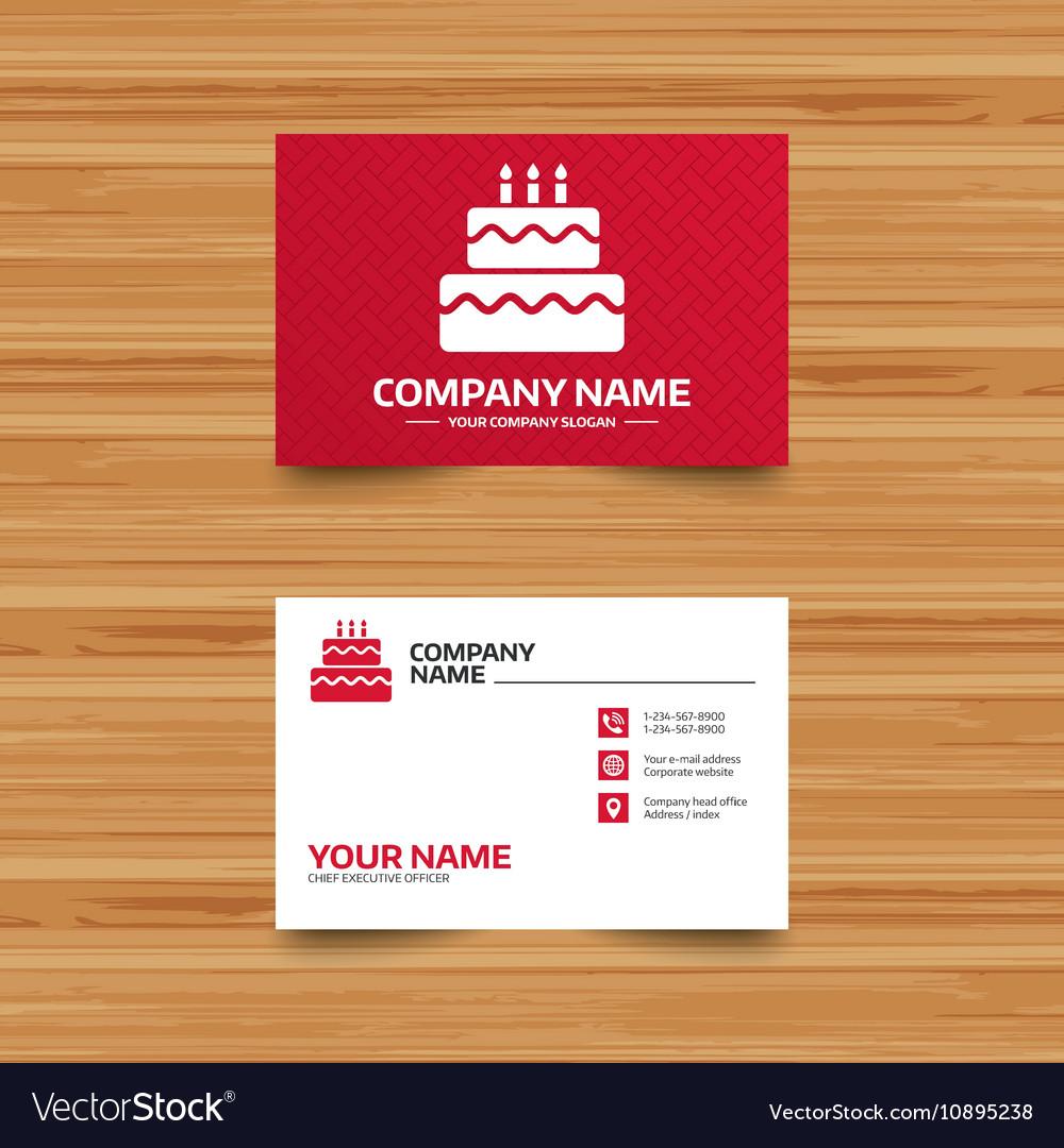 Birthday cake sign icon burning candles symbol vector image birthday cake sign icon burning candles symbol vector image biocorpaavc