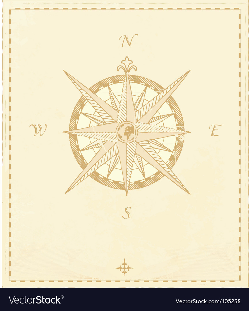 Compass windrose vector image