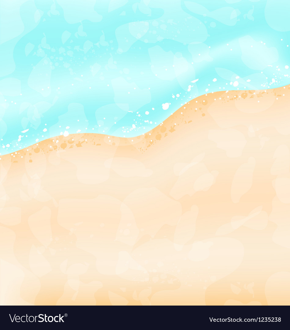Holiday background - beach sea sand vector image