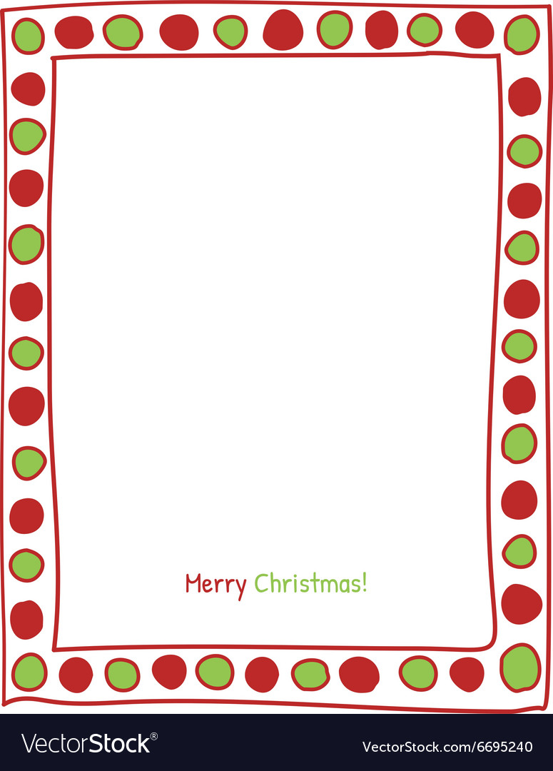 Christmas circle border vector image
