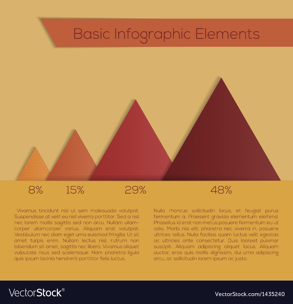 For web design infographics vector image
