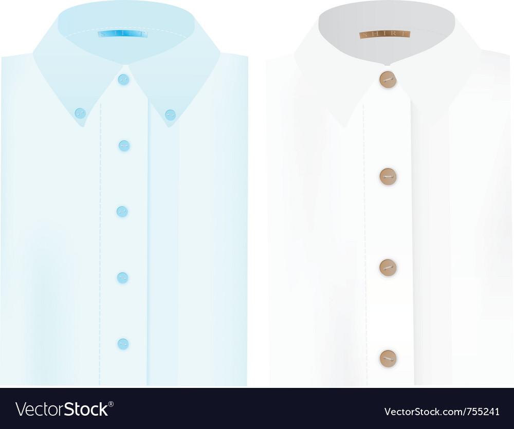 Mens folded shirts vector image