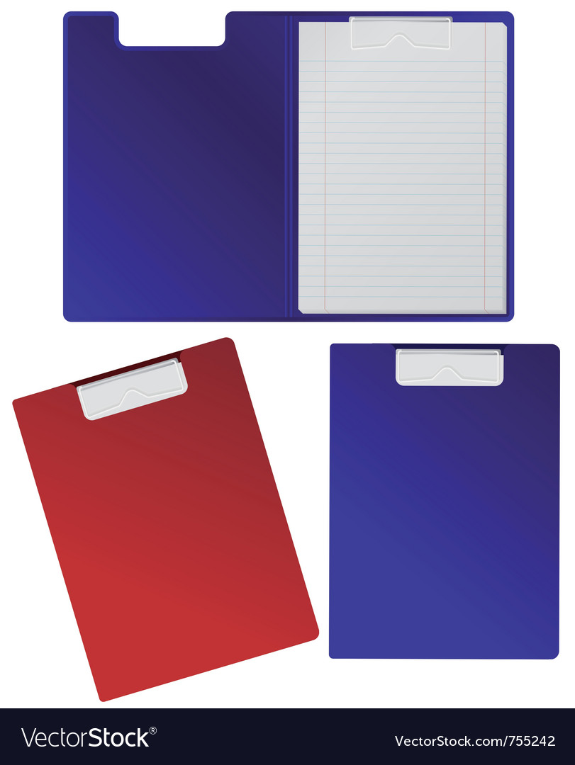Clipboard with blank sheets isolated on white vector image