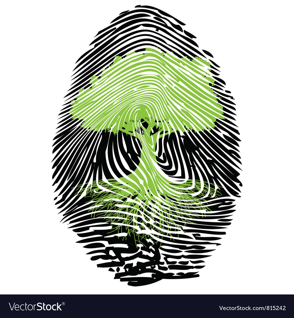 Ecological signature vector image