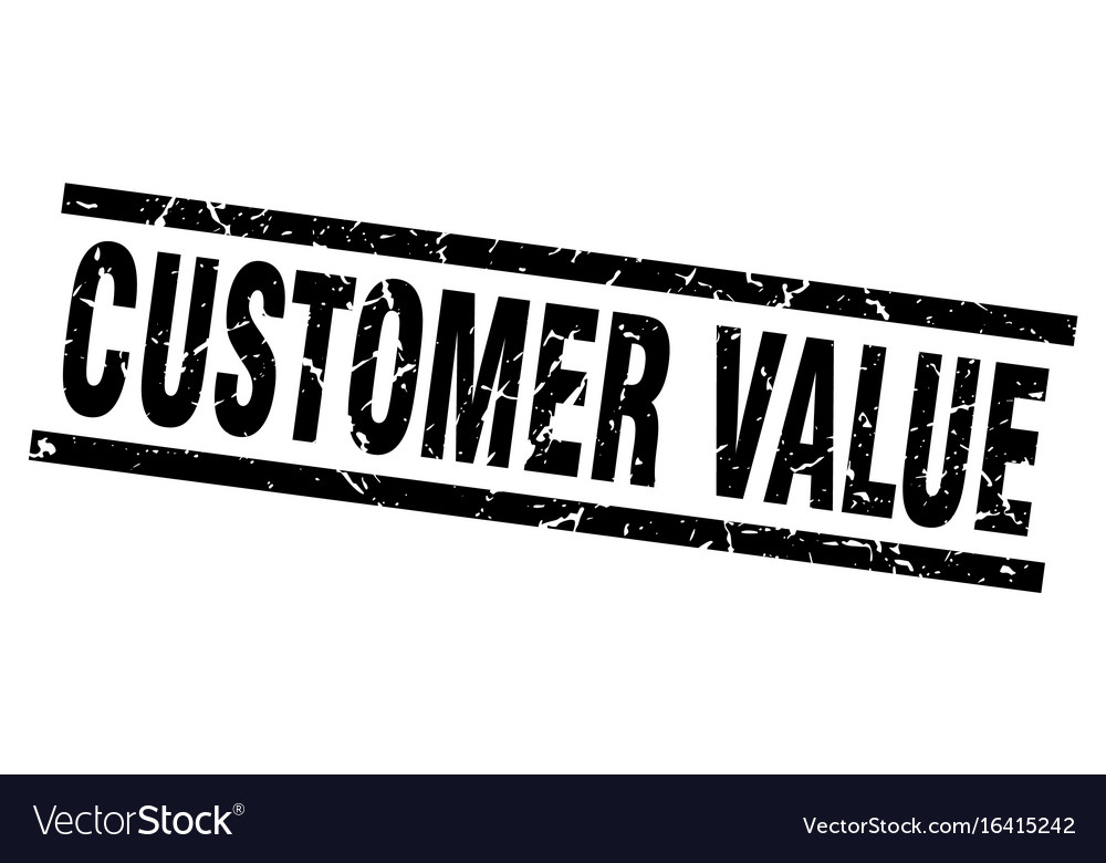Square grunge black customer value stamp vector image