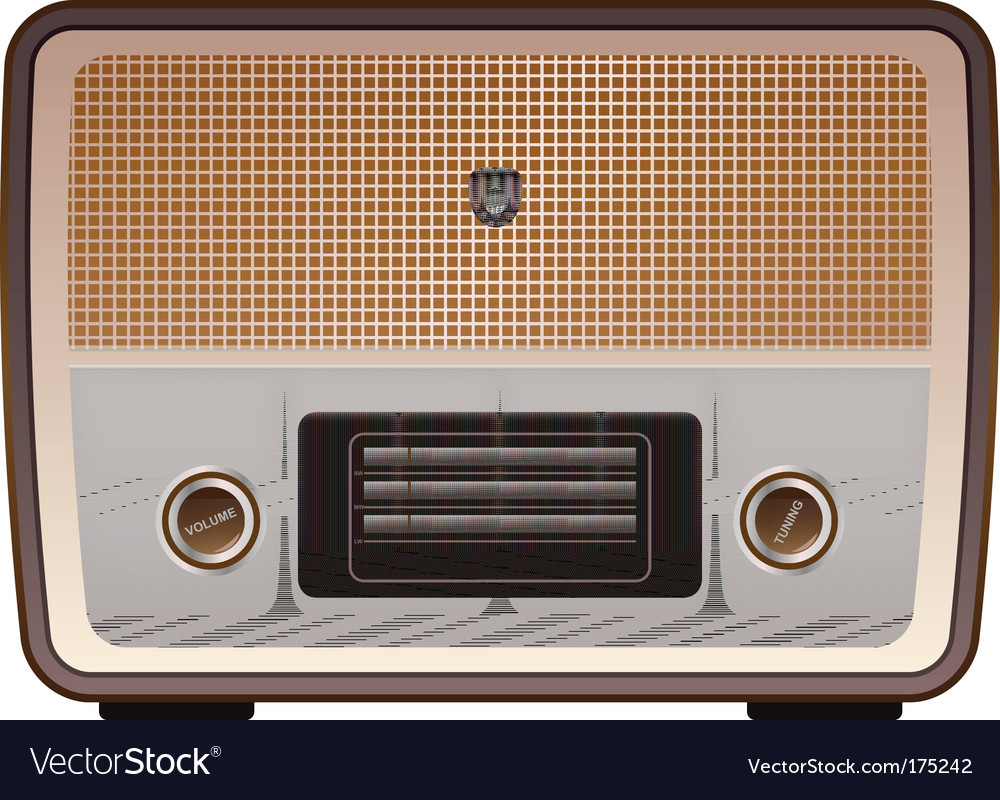 Vintage radio vector image