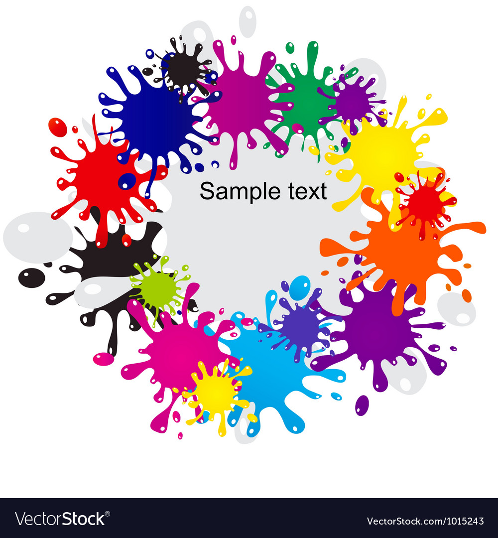 Abstract colorful blots background vector image