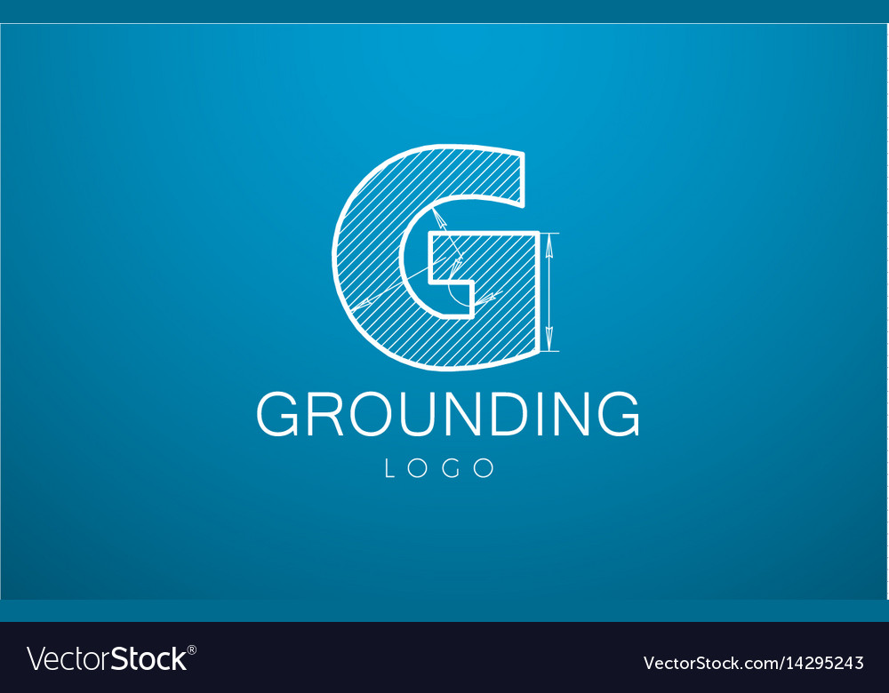 Logo template letter g in the style of a vector image