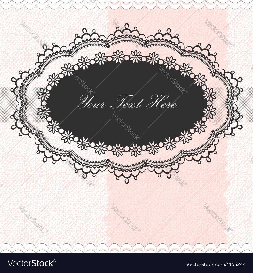 Vintage frame on textured background vector image