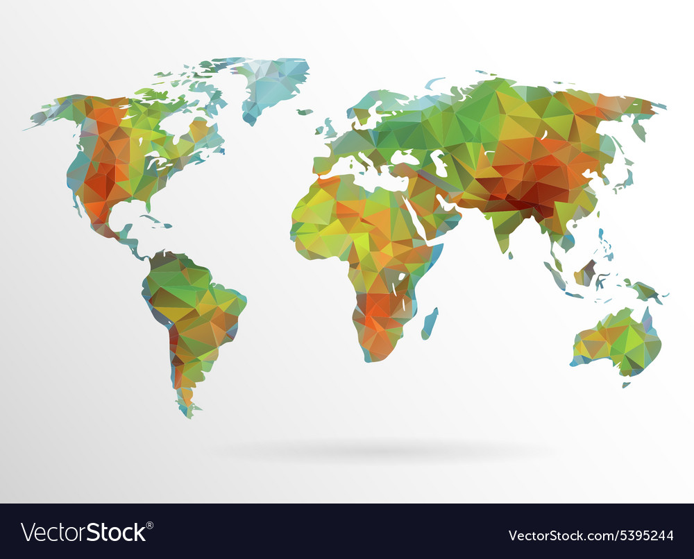 World map background in polygon royalty free vector image world map background in polygon vector image gumiabroncs Images