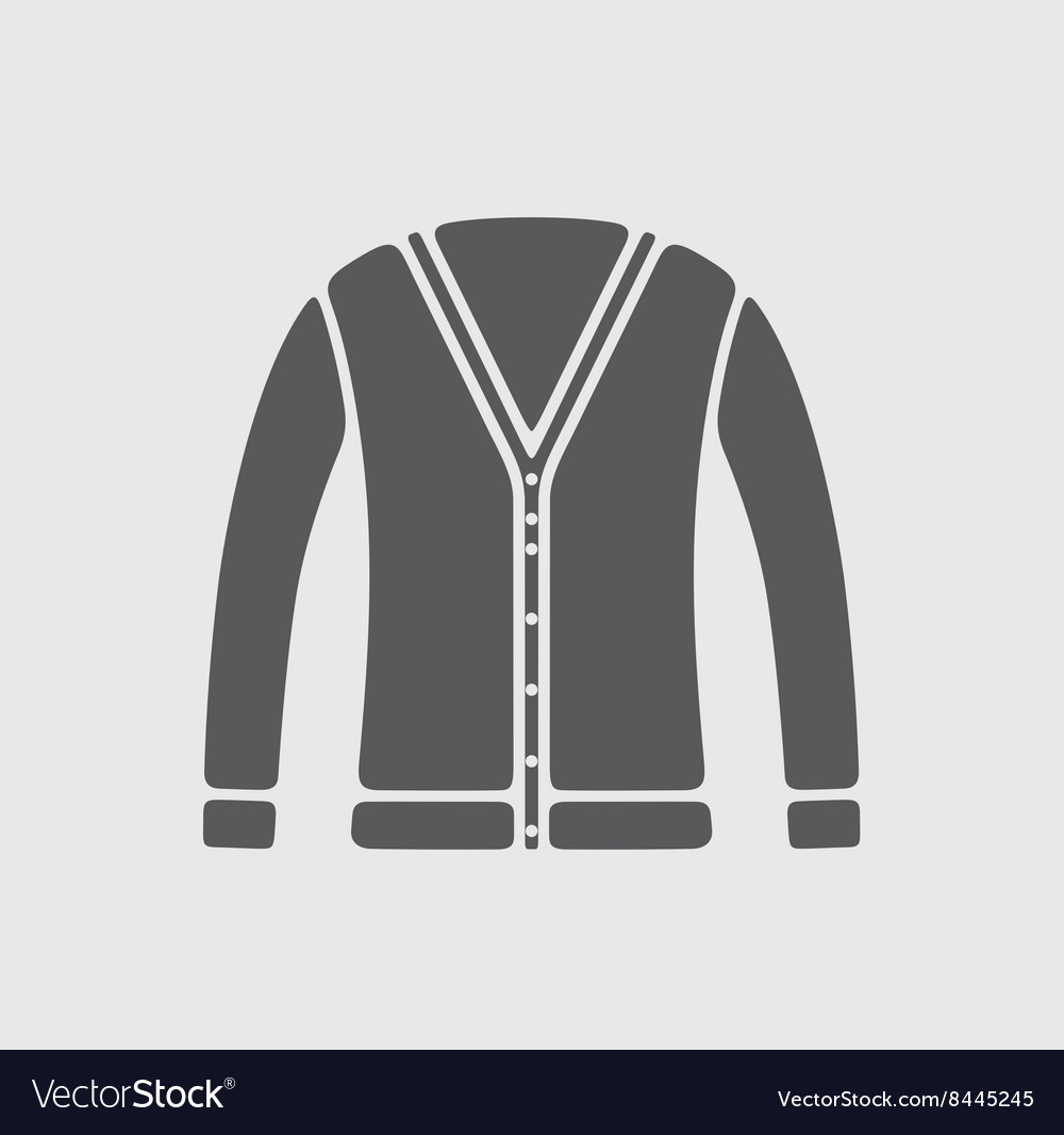 Cardigan icon on background vector image