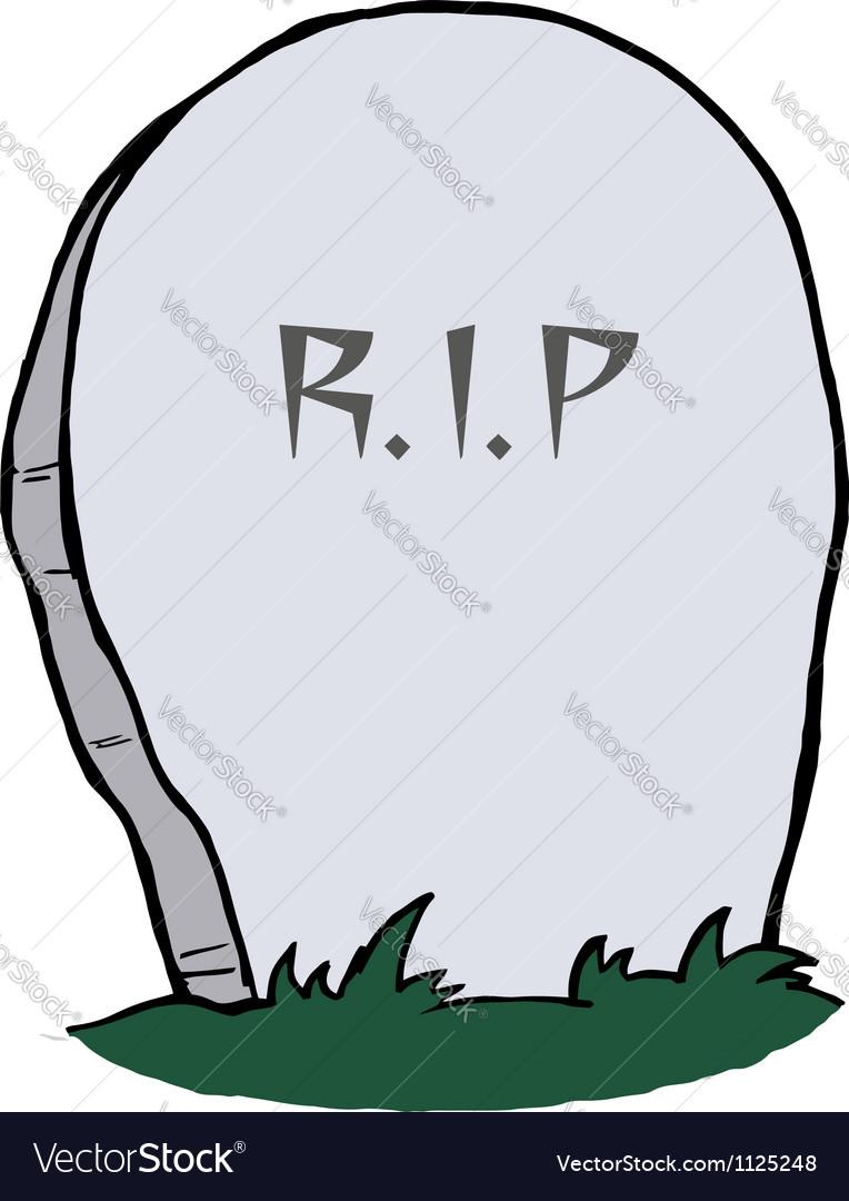 Tombstone vector image