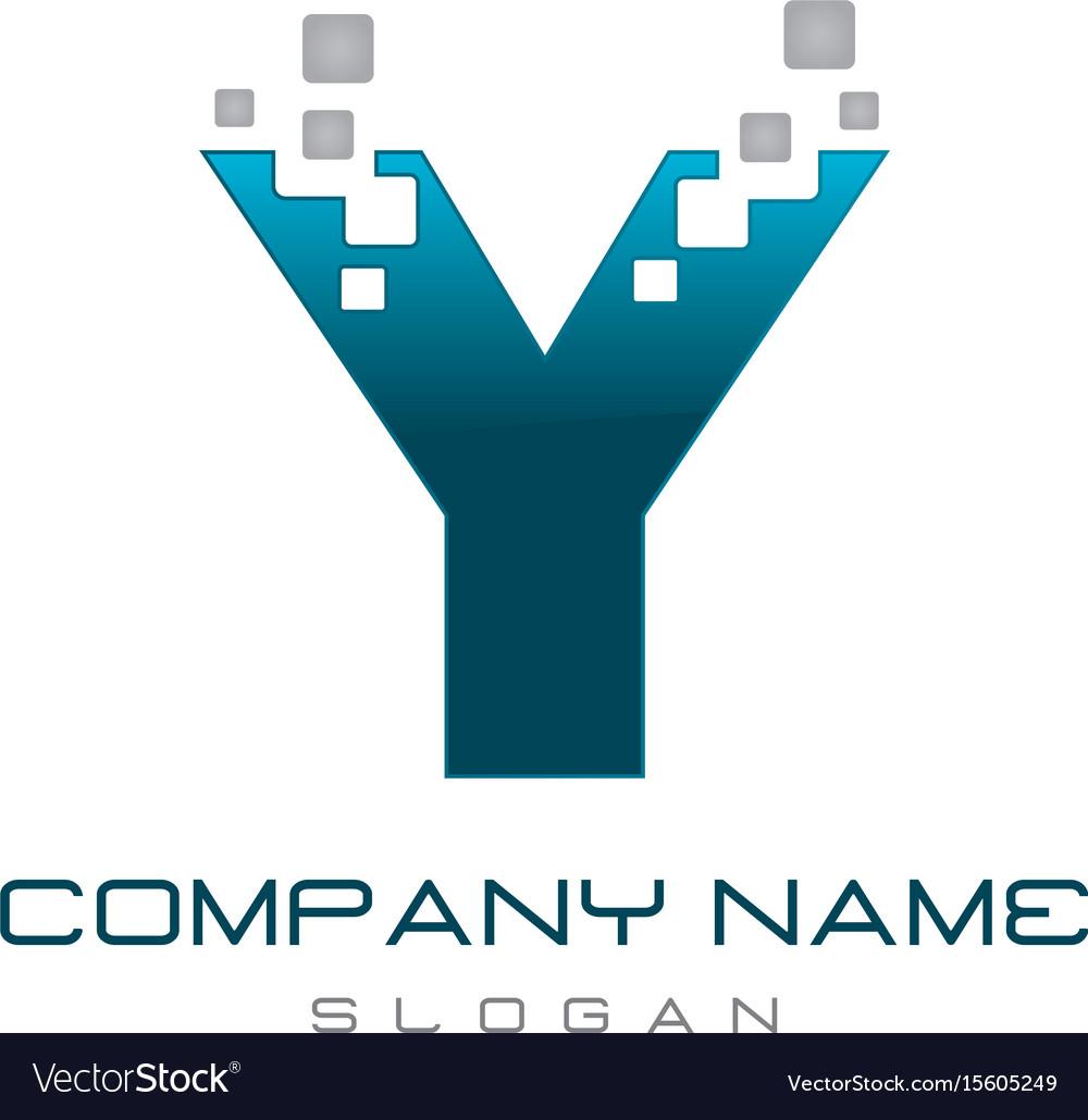 Modern letter y vector image