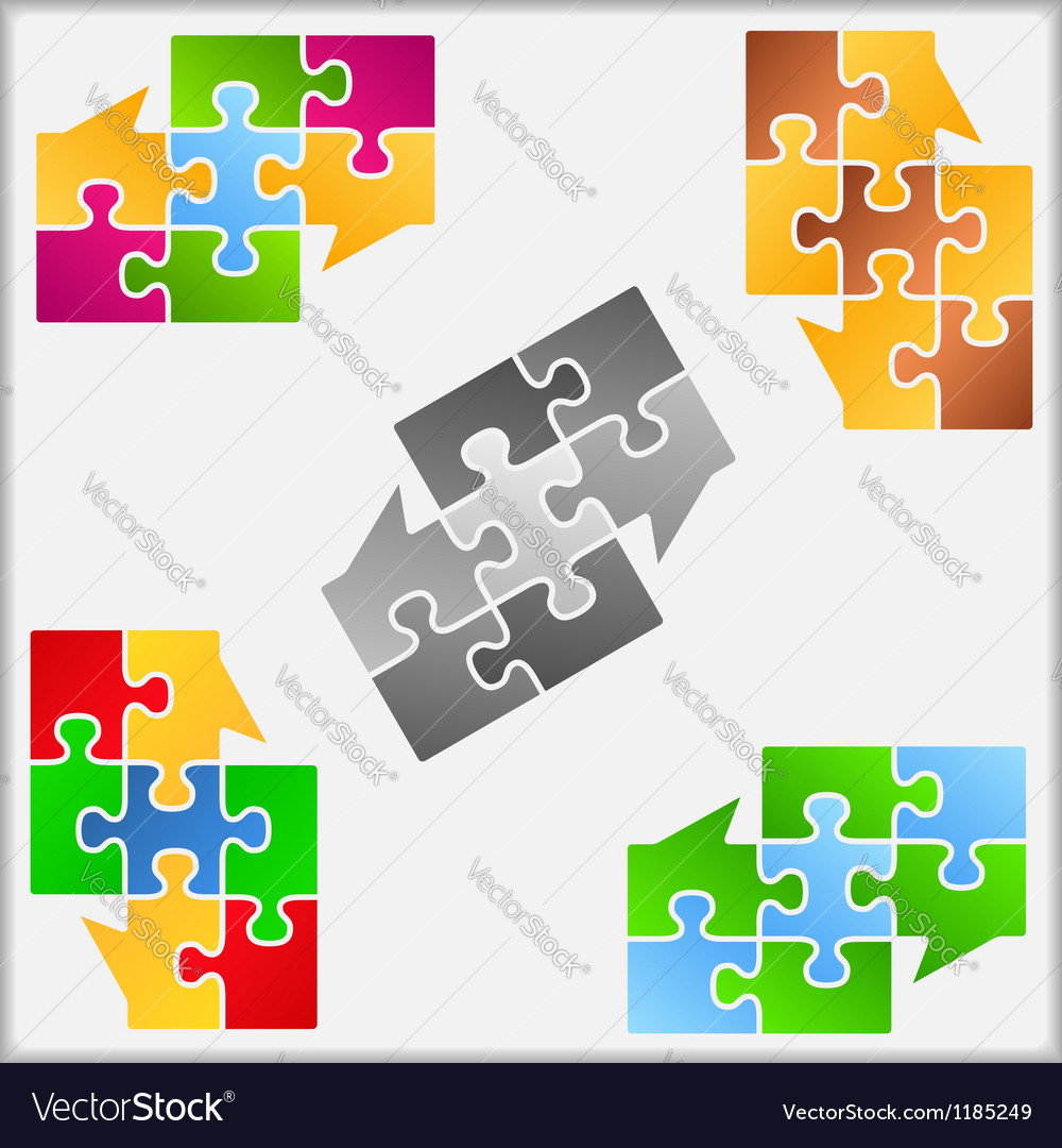 Puzzle Speech Bubbles vector image