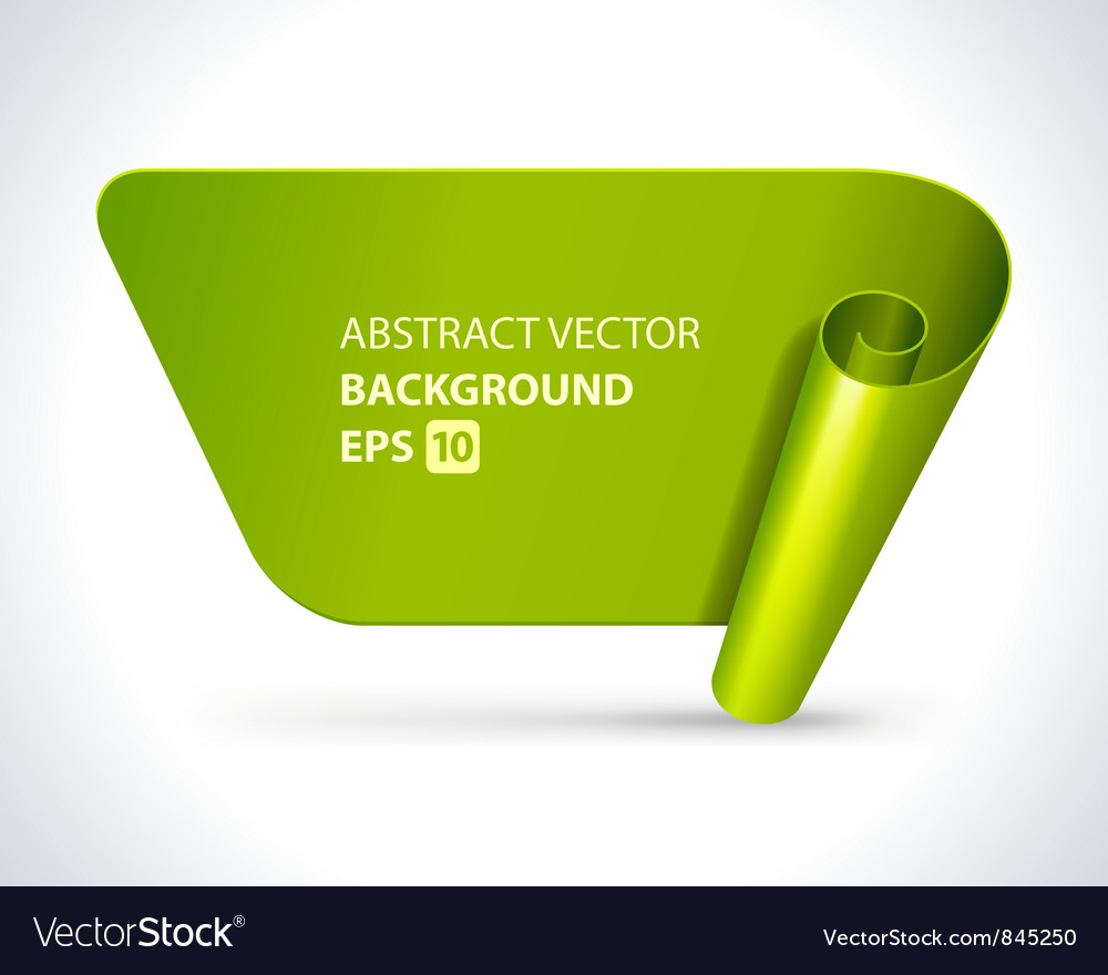 Modern label background vector image